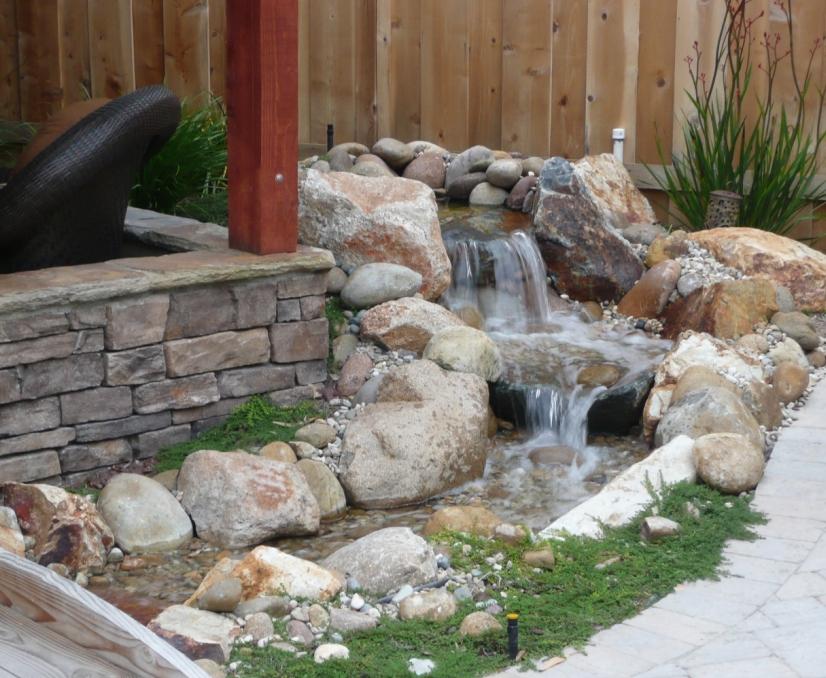 Pondless Water Feature 1 Denver Decorative Concrete Custom Masonry